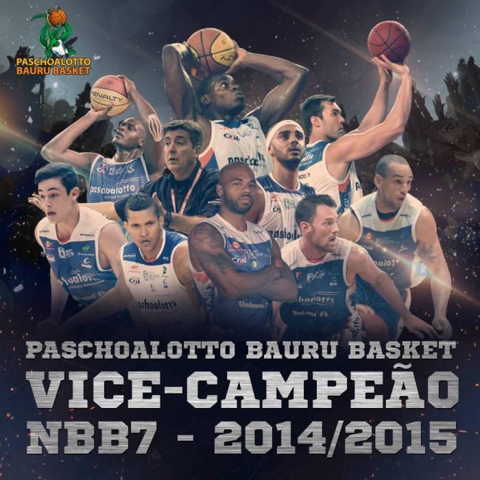 Bauru BASKET- vice-campeão, NBB, 2015 - 2