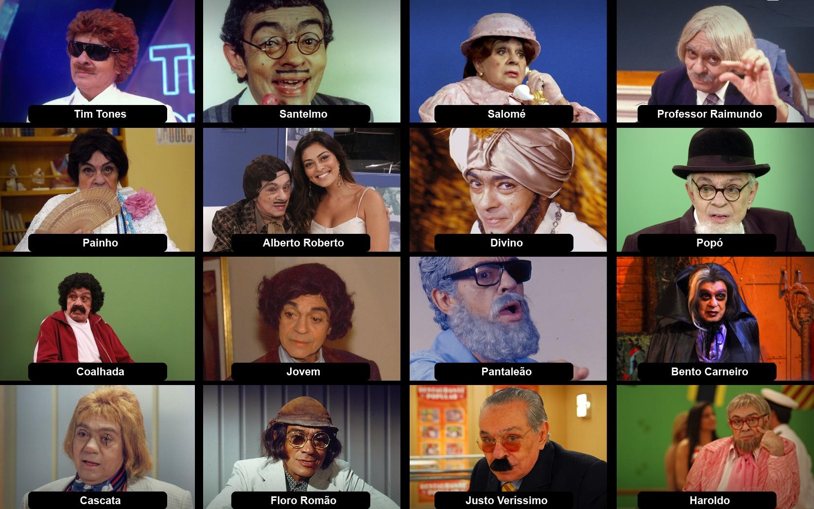 Nomes dos Personagens de Chico Anysio – Bauru TV