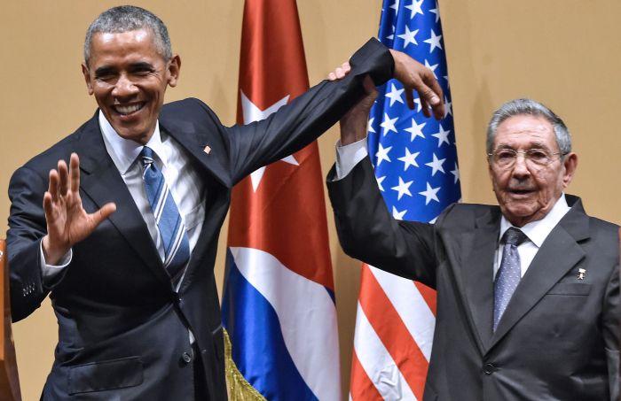 Barack Obama e Raul Castro
