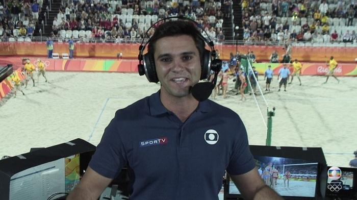 Guilherme Marques, da Globo, estava no avião.