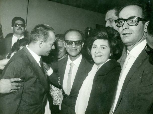 Waldo Vieira com Chico Xavier na época em que trabalharam juntos.